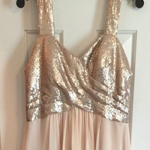 Dresses & Skirts - Sequin/Chiffon Dress